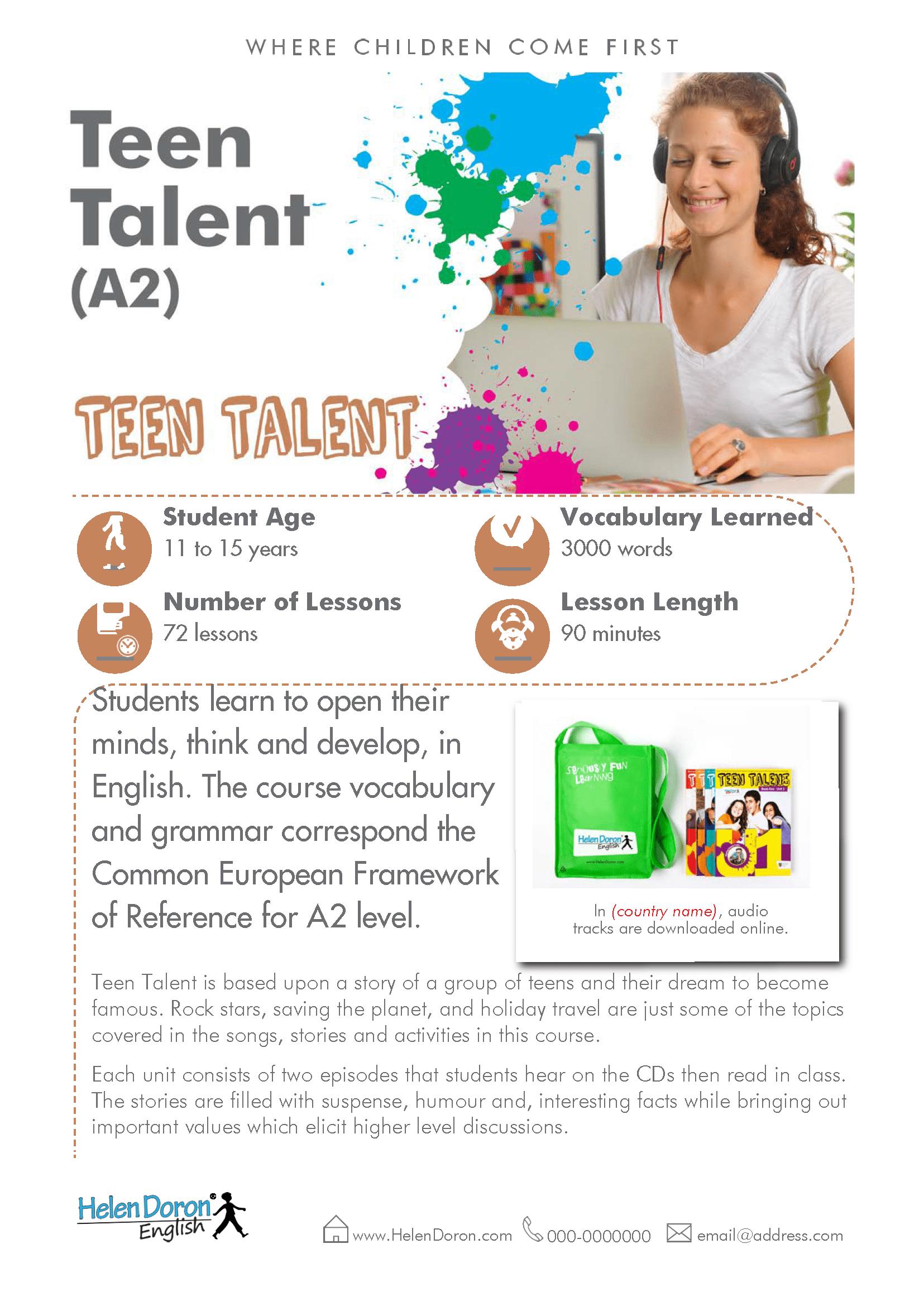 Stiahnuť - Teen Talent (A2)